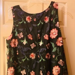 Signature by Robbie Bee Mesh Floral Design Dress
